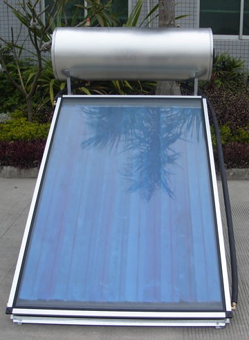 solar collector boiler with one panel